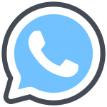whatsapp blue